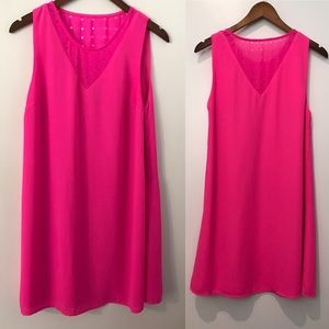 GB Gianni Bini Neon Hot Pink Shift Mini Dress